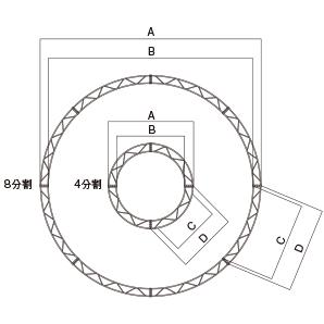 円トラス・ボトル型φ3000 1/4